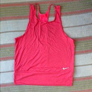 Pink Nike Dri-fit workout top